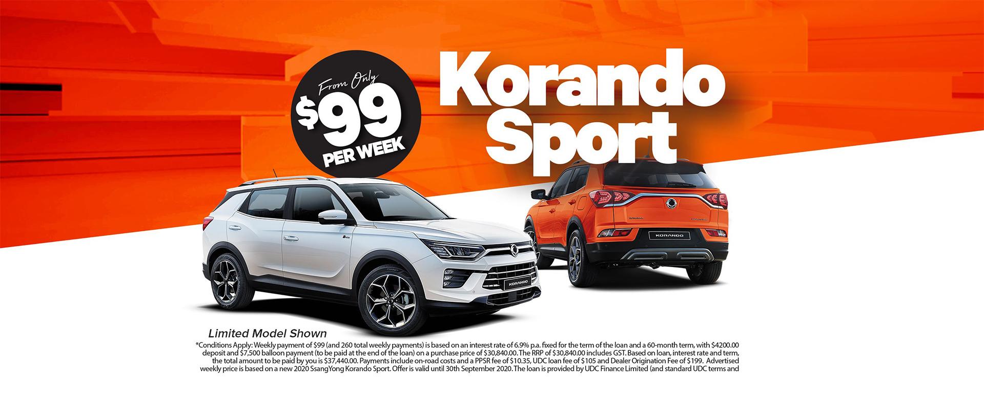 Korando Sport 99
